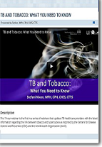 TB and Tobacco: What You Need to Know
