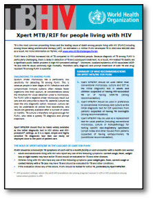 Xpert MTB/RIF for People Living with HIV