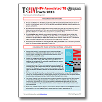 HIV-Associated TB: Facts 2013