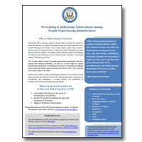 Preventing and Addressing Tuberculosis among People Experiencing Homelessness